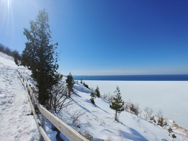 Winter views from Empire Bluffs ...lots of blues and whites