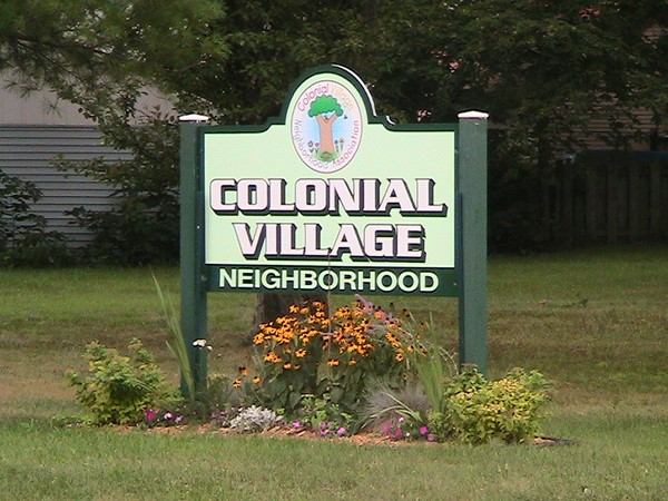 Colonial Village sign - corner of MLK and Mt Hope