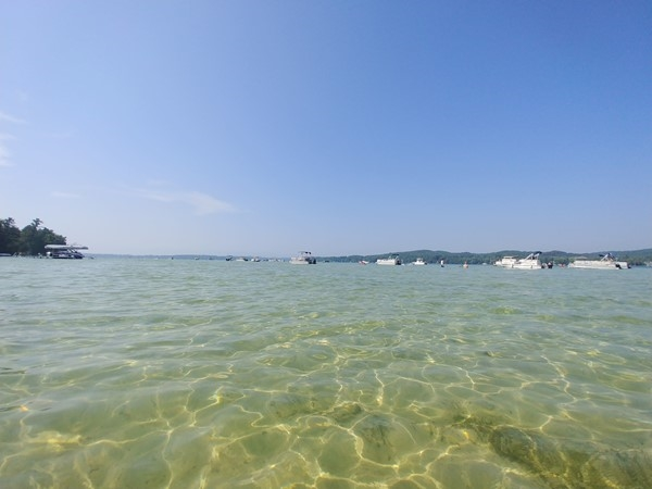 While away the day on the Lake Leelanau sand bar