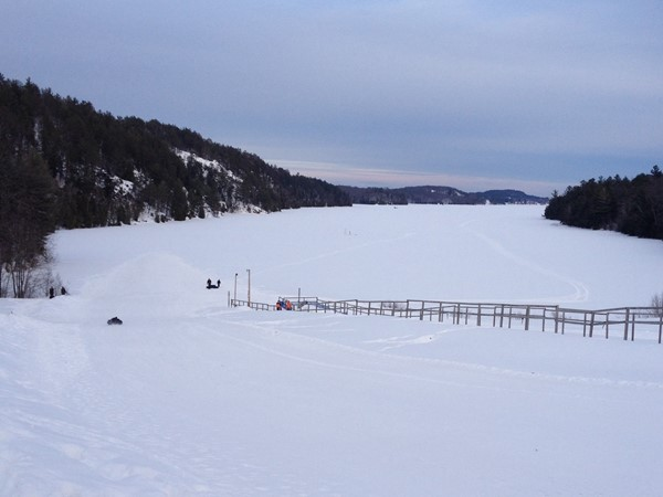 Beautiful March day tubing onto Teal Lake. Al Quaal Recreation Tubing Hill