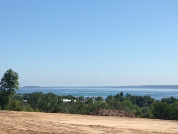 In the beginning, there was this view from The Moorings of Grand Traverse