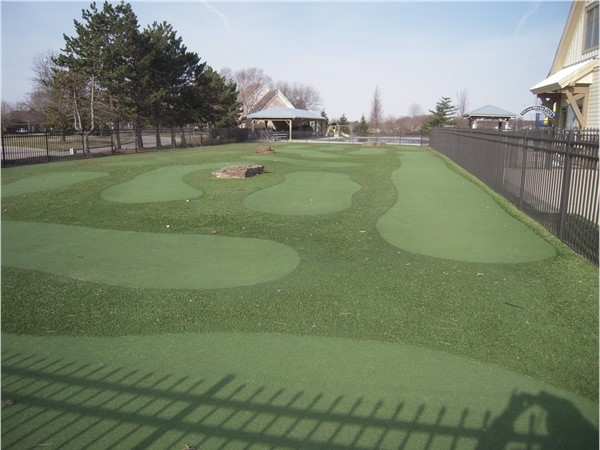 Putting green for members is open and it creates a fun diversion for kids who come to the pool
