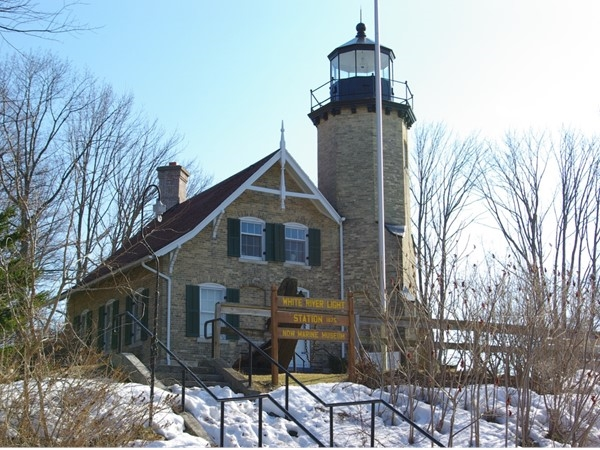 Historic White River Light Station on the White River Channel
