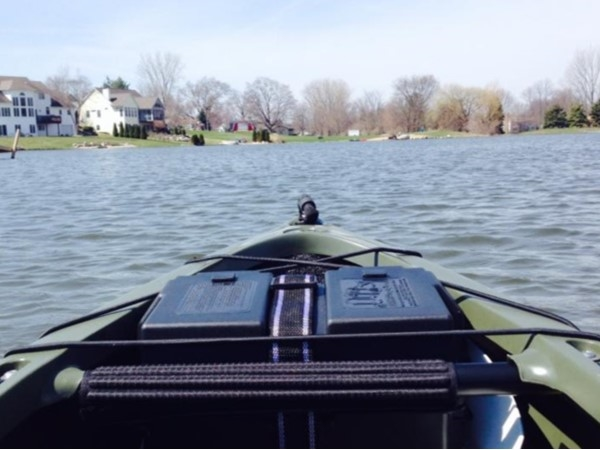 Low noise on Whispering Springs Lake while you kayak, as only electric motors are allowed