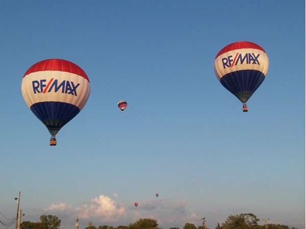 The RE/MAX balloons get up close and personal in Hudsonville