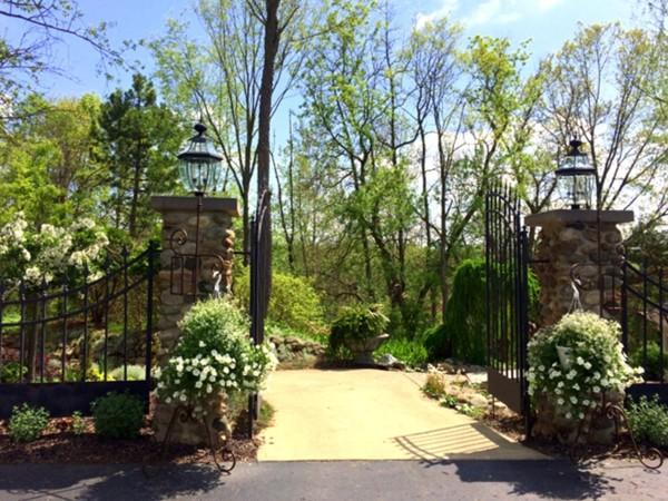 Heavenly Scent Herb Farm wedding garden entrance