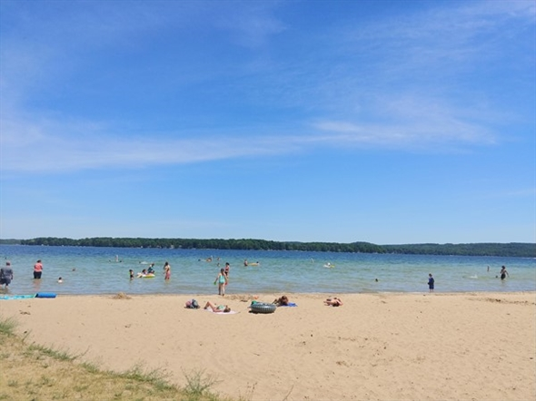 Bring the family for a fun day in the sun at Interlochen State Park on Duck Lake