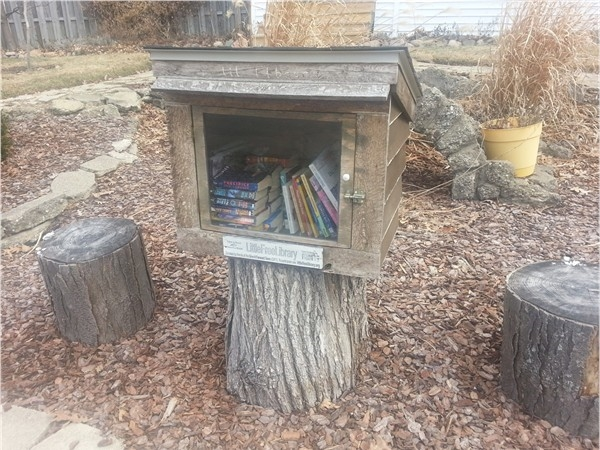 Little Free Library number one in Mott Park