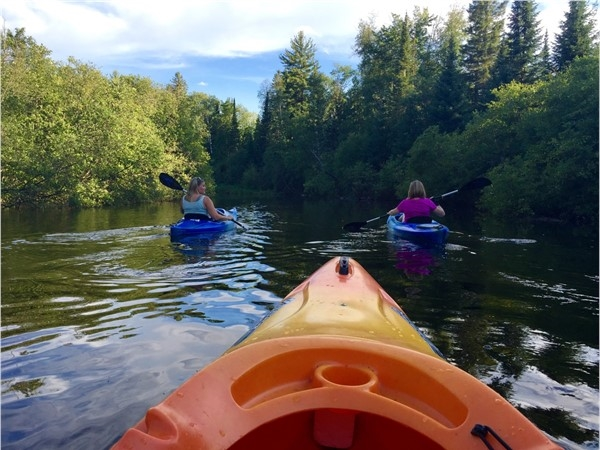 There are so many places to kayak in Marquette County. It's an easy paddle on the Chocolay River