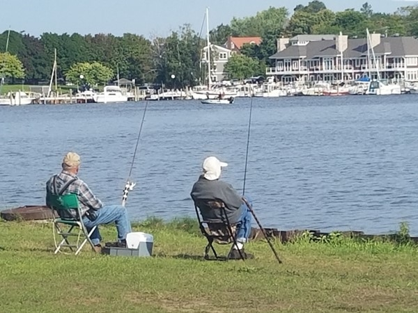 Fishing at Elberta's Waterfront Park
