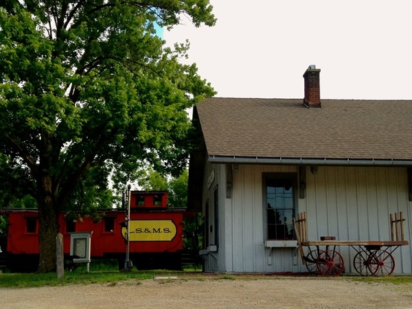 Saline's original train station, now a museum