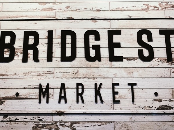 Check out all the local goods as well as traditional grocery store finds at Bridge Street Market
