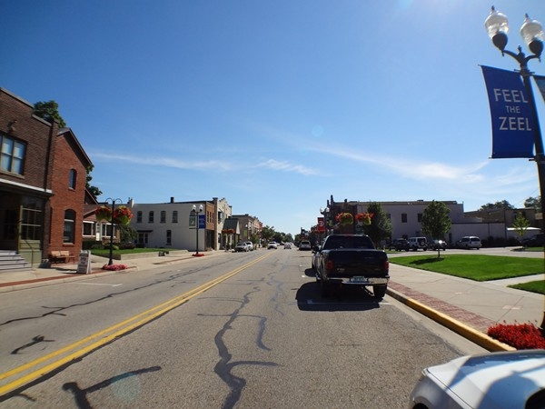 Downtown Zeeland on a beautiful, sunny day