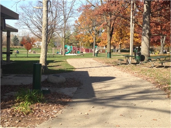 Paved trailers and play equipment at Valhulla Park