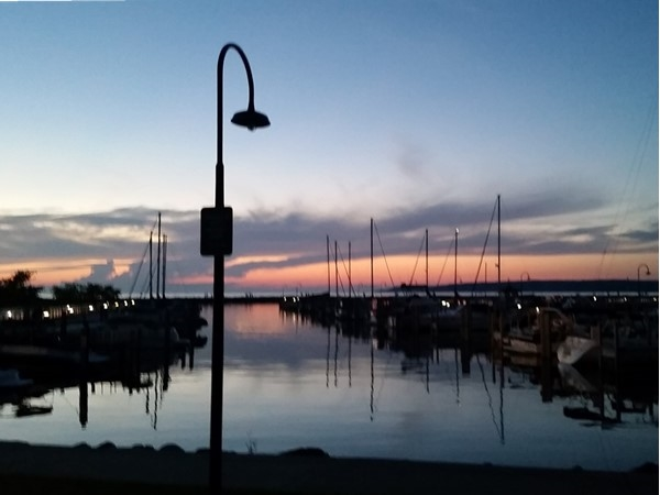 Sunset at the Petoskey Marina. What a great time to sail